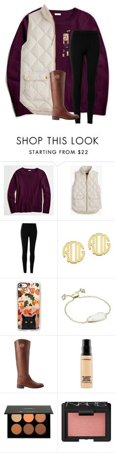 """J Crew Fall Outfit Contest"" by beautygirl480 ❤ liked on Polyvore featuring J.Crew, Max Studio, QVC, Casetify, Kendra Scott, Tory Burch, MAC Cosmetics, Anastasia and NARS Cosmetics"