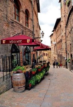 street in Volterra, Tuscany, Italy. I can picture Ira & I, walking down this street!