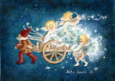 Katja Saario Illustration Art, Art Illustrations, Finland, Illustrators, Disney Characters, Fictional Characters, Christmas Cards, Disney Princess, Stamps