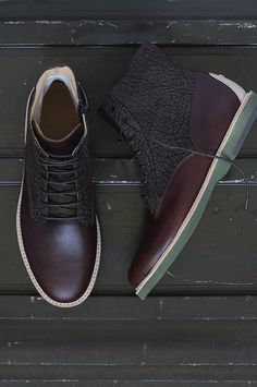 Founded in NYC in 2009 and currently based in California, Thorocraft is a brand that is known for combining modern technology and bold style with classic footwear silouettes. Me Too Shoes, Men's Shoes, Shoe Boots, Dress Shoes, Derby, Fashion Shoes, Mens Fashion, Italian Leather Shoes, Unique Shoes