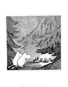Vintage Moomin Illustration Prints by Tove Jansson at AllPosters.com