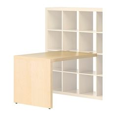 desk attached to Expedit bookcase $50