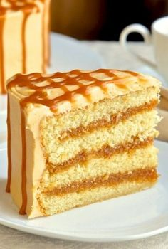 The Best Caramel Cake ~ This caramel cake is called the best caramel cake for a number of reasons: it's truly easy, it calls for only simple ingredients, and it's so delightful it can make a dessert for special occasions and anniversaries, as well as an after-dinner treat for your family and friends.