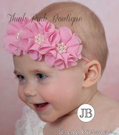 Infant Colorful Baby Elastic Headband Hair Accessories Flower Bow Headwear