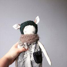 Sweet deer Hilla cloth doll puppa puppadolls with by poppyandowl