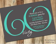 60th Birthday Party Invitations - cloveranddot.Com