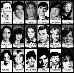Yearbook Photos of Heavy Metal and Rock Musicians