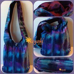 Hippy Satchel, Hobo Bag, Shoulder, Purse, Beach, Diaper, Hippie, Gypsy, Tote, Tie Dye Batik