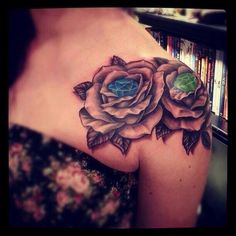 Love this idea for a rose tattoo.