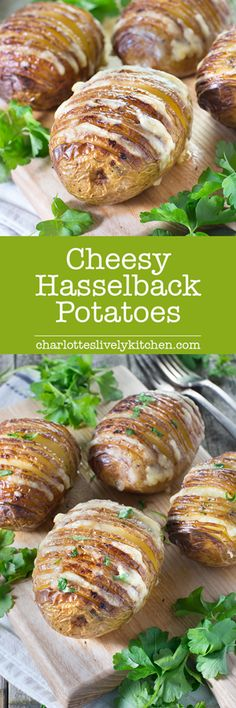 Hasselback potatoes are easy to make and taste delicious and now you can make them even better with the addition of oozing cheddar cheese.