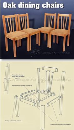 Oak Dining Chair Plans - Furniture Plans and Projects | WoodArchivist.com
