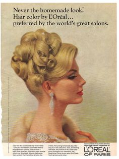 Blonde Hair Ad Loreal 1960's (source unknown)