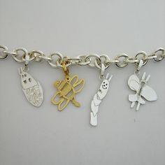 Mia Van Beek Turns childrens drawings into jewellery