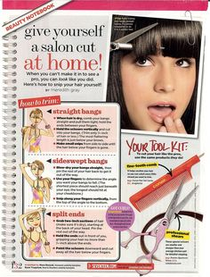 how to cut bangs at home dailymotion