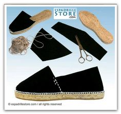 How to make Espadrilles - Phototutorial Make Your Own Shoes, How To Make Shoes, Diy Fashion, Fashion Shoes, Diy Kleidung, Shoe Crafts, Haut Bikini, Shoe Pattern, Crochet Slippers