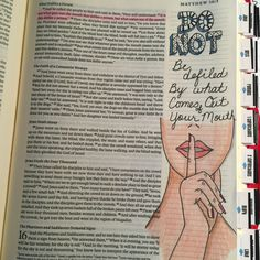 I saw someone else do this in their Journaling Bible and had to try it. Matthew 15:11