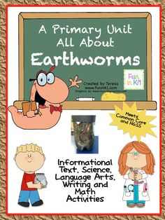Earthworms are interesting and amazing animals to learn about. This unit is packed with fun and includes informational text, science, language arts, writing and math activities aligned with Common Core and Next Generation Science Standards.