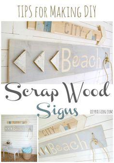Tips for Making DIY Scrap Wood Signs
