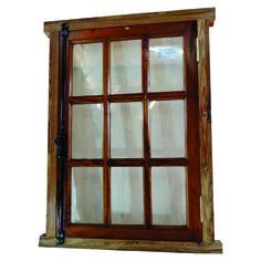 Ventana Cod. 2736 -  Ventana de madera en cedro. Es de una hoja de abrir.