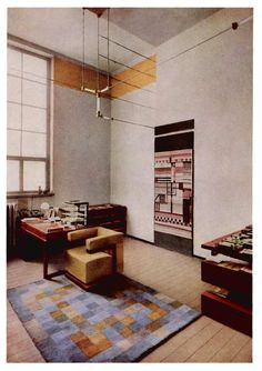 Inside Gropius's director's office at the Bauhaus, Dessau