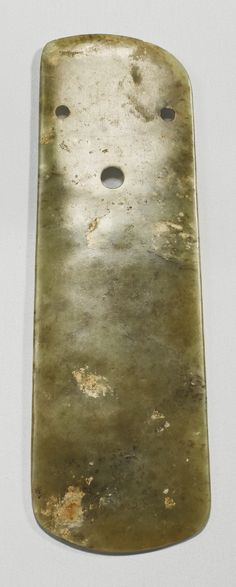 A JADE BLADE, NEOLITHIC PERIOD  ️More Pins Like This At FOSTERGINGER @ Pinterest♓️
