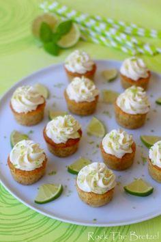 Mini-cupcakes menthe et citron vert (façon mojito)