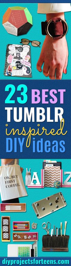 Best DIY Ideas from Tumblr -  Crafts and DIY Projects Inspired by Tumblr are Perfect Room Decor for Teens and Adults - Fun Crafts and Easy DIY Gifts, Clothes and Bedroom Project Tutorials for Teenagers and Tweens http://diyprojectsforteens.com/diy-projects-tumblr