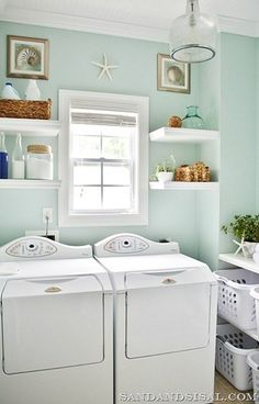 Take cues from this thoughtful space to make washing clothes way easier.