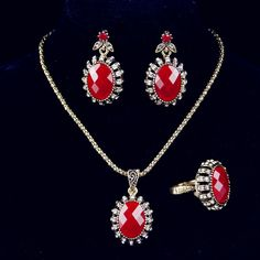 Cheap jewelry locket necklace, Buy Quality jewelry ring making supplies directly from China jewelry gold necklace Suppliers:                   Vintage Retro Earrings and Rings Jewelry Sets 925 Sterling Silver Oval Opal Man-made diaond Jewelry Gr