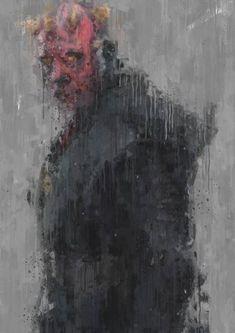Darth Maul Clone Wars, Star Wars Darth, Darth Vader, Darth Maul Wallpaper, Impressionist Art, Sith, Artwork, Painting, Art Work