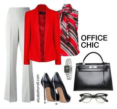"""""""LIZ"""" by elizabethhorrell ❤ liked on Polyvore featuring Blugirl, Casadei, Chanel, Hermès, Dsquared2 and MANGO"""