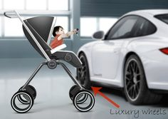 The Design Chaser: Kids Style. Porsche  Design P'4911 Stroller