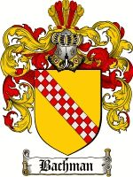 Bachman Coat of Arms / Bachman Family Crest  The surname of BACHMAN was a Swiss locational name 'the dweller by the stream in the valley der...
