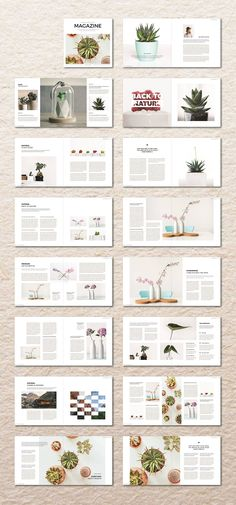 Square InDesign Magazine by MA-KING_ART on @creativemarket