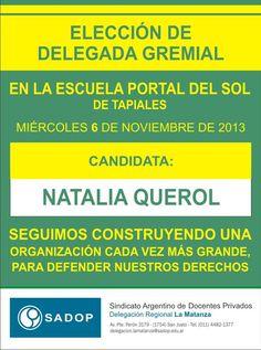 ELECCIÓN DELEGADA NATALIA QUEROL