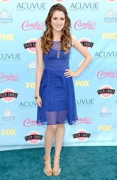 Laura Marano The Austin & Ally star looked amazing in a sheer blue dress