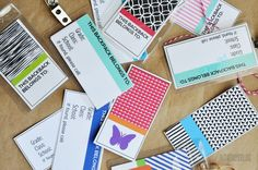 Printable Tags - perfect for back to school www.thirtyhandmadedays.com