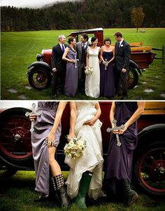 Galoshes for a wedding--don't think I could pull it off, but this is definitely adorable.