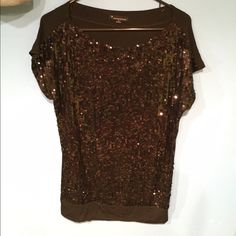 Black sequin tunic shirt Forever 21 black sequin tunic tee with banded bottom. Sequins are only on the front. Soft cotton material Charlotte Russe Tops Tunics