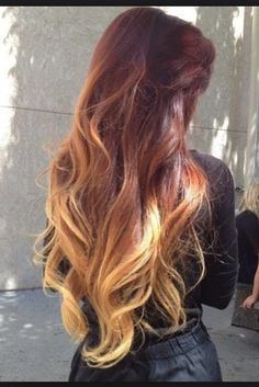Want want want! Red hair ombre, love ❤️❤️❤️