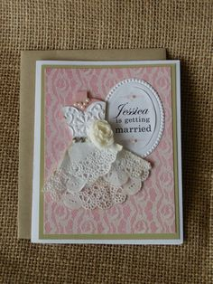 Burlap & Lace Bridal Shower Invitation - Shabby Chic Getting Married Invites - Vintage Wedding - Engagement