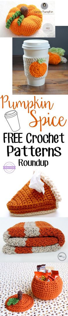 Pumpkin Spice Free Crochet Pattern Roundup | From Sewrella