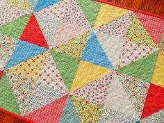 $48 Quilted Table Runner  Vintage Style  Cottage Shabby by susiquilts
