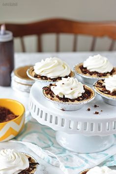 Mini Cookie Butter Brownie Pies! bethcakes.com