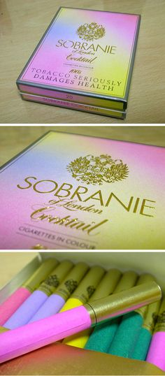 Sobranie Cocktails.  My mom would smoke these in the 60's/early70's only when she and my Dad were going out to a cocktail party.  She would only take the ones that matched her outfit that evening.