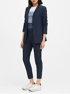 Women's Blazers | Banana Republic Blue Blazer Outfit, Blazer Outfits For Women, Office Outfits Women, Work Outfits, Clothing For Tall Women, Clothes For Women, Women's Clothing, Business Casual Attire, Business Dresses