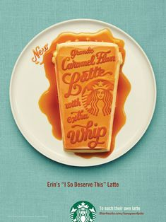Series of Starbucks ads made by Jessica Hische.