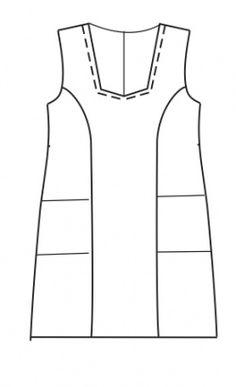 koot 48 on kaavaan merkitty sivutaskun paikat. Sewing Clothes, Sewing Hacks, Handicraft, Athletic Tank Tops, Knitting, Womens Fashion, Fabric, Pattern, How To Wear