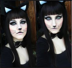Not really digging the whole pale faced stuff but this is mostly how my Halloween make ups gonna look :)