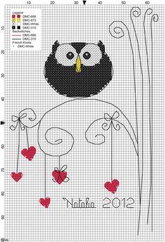 Сова вышивка крестом мудрых птиц (схемы)